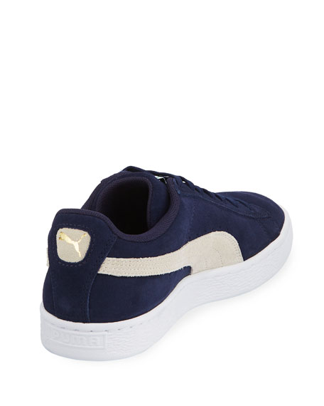 Puma Men's Classic Suede Low-Top Sneakers, Blue