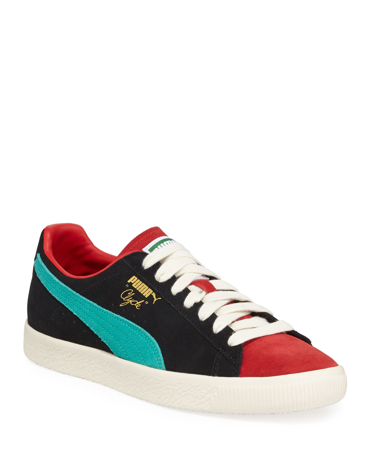 Puma Men s Clyde Colorblock Suede Platform Low-Top Sneakers  b084cff49