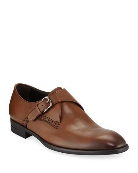 Ermenegildo Zegna Men's New Flex Monk-Strap Shoes, Brown