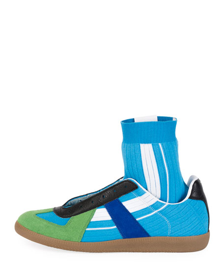 Image 2 of 3: Maison Margiela Men's Replica Sock High-Top Sneakers