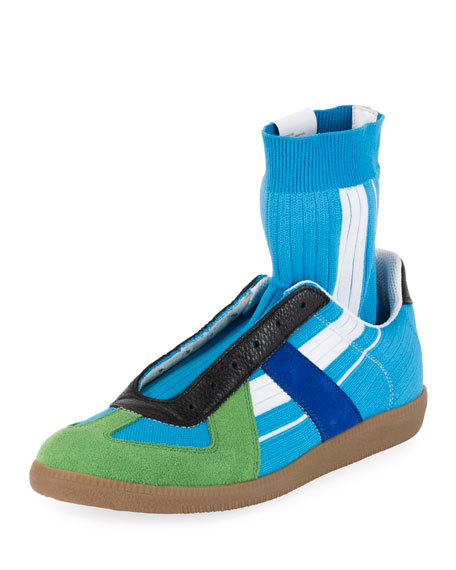 Image 1 of 3: Maison Margiela Men's Replica Sock High-Top Sneakers