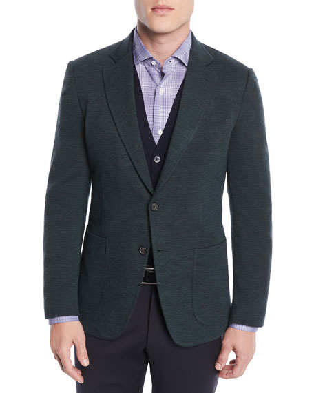 Image 1 of 3: Isaia Men's Wool-Nylon Knit Blazer