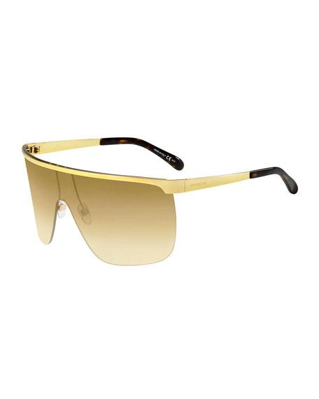 Givenchy Men's Metal Shield Sunglasses