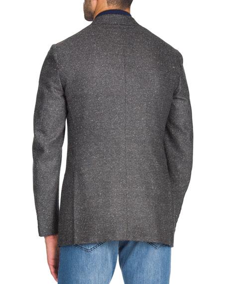Isaia Men's Grayblack Geometric Jacket