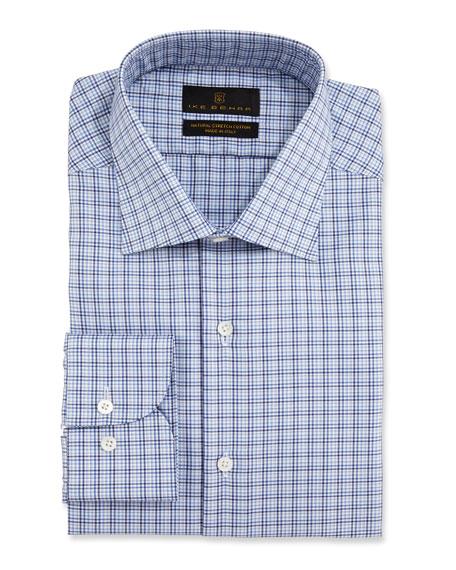 Ike Behar Men's Check Dress Shirt