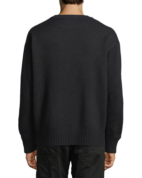 G-Star Men's Logo Applique Crewneck Sweater