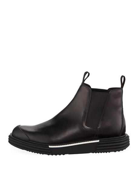 Men's Leather Gored Bootie Sneakers