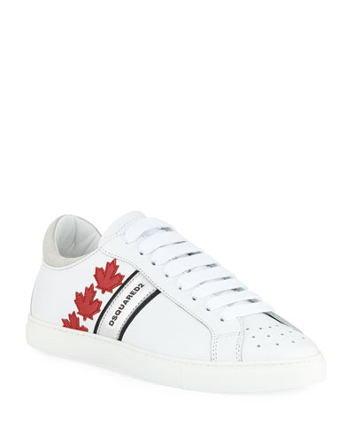 Men's Low-Top Sneakers with Canadian Maple Leaf