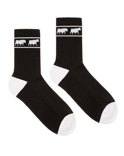 Men's Animals Tube Socks, Black