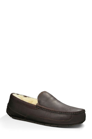 UGG Men's Ascot Water-Resistant Leather Slippers