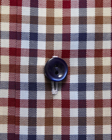 Men's Contemporary-Fit Plaid Dress Shirt
