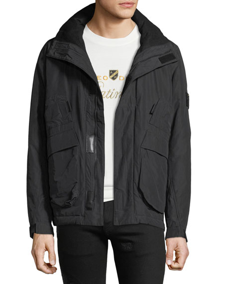 Stone Island Men's Pack Away-Hood Zip-Front Jacket