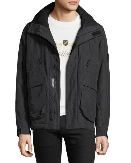 Stone Island Men's Pack Away-Hood Zip-Front Jacket