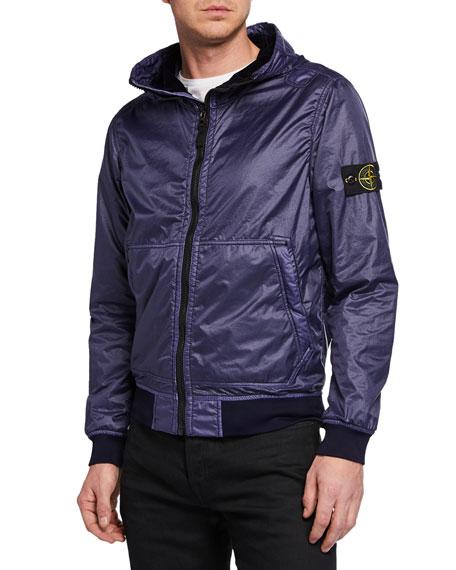 Men's Zip-Front Hooded Jacket