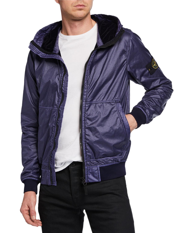 a450b87627 Stone Island Men s Zip-Front Hooded Jacket