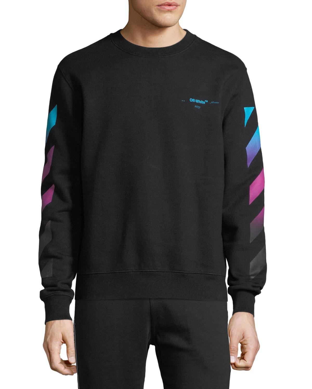 8d08321cb7d7 Off-White Men s Diagonal-Gradient Pullover Sweater