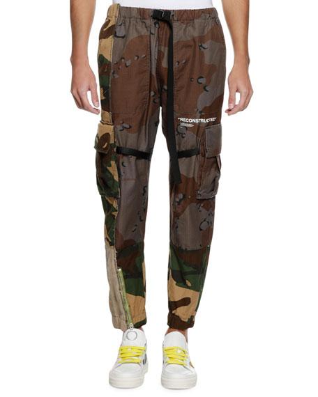 Men's Reconstructed Camo-Print Cargo Pants