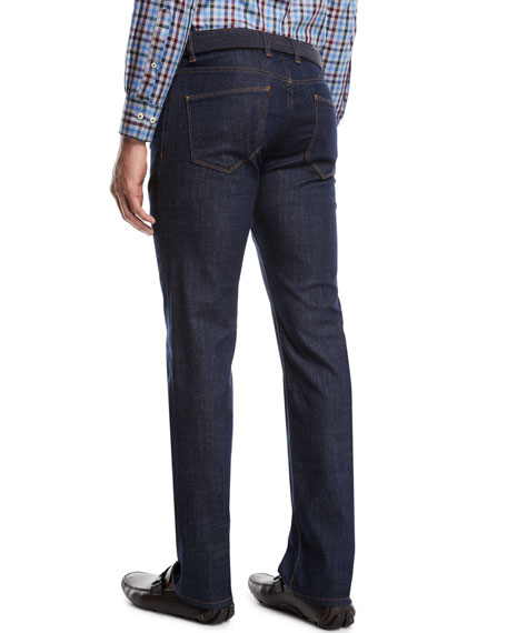 Peter Millar Men's Straight-Leg Stretch-Denim Jeans