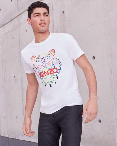 Men's Tiger Logo Crewneck T-Shirt