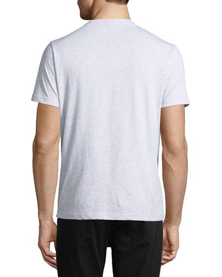 Men's Vertical Rainbow Logo Short-Sleeve Crewneck T-Shirt