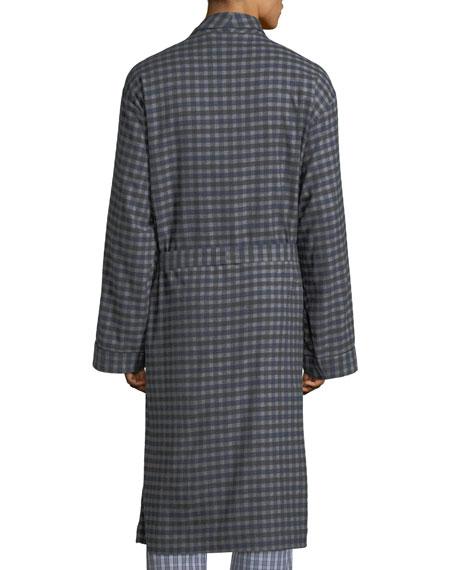 Neiman Marcus Men's Brushed Flannel Robe