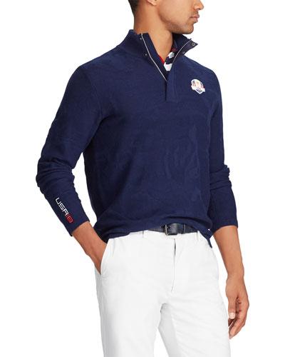 Ralph Lauren Men\u0027s Tonal Camouflage-Print Golf Sweater