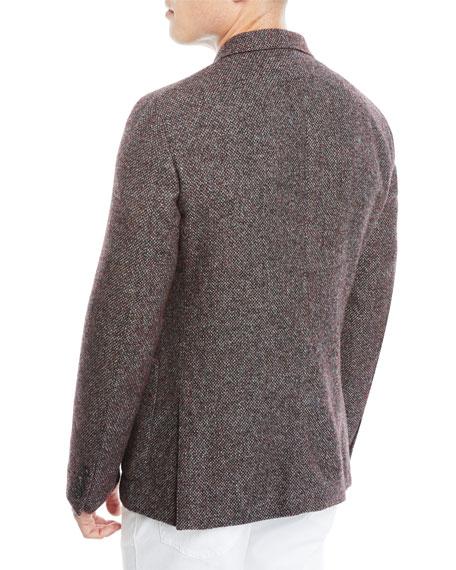 Ermenegildo Zegna Men's Textured Camel/Alpaca Two-Button Blazer