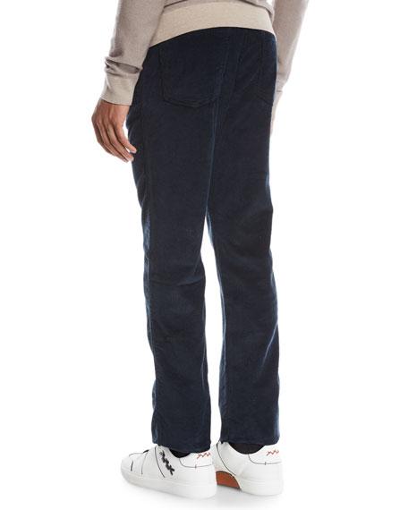 Ermenegildo Zegna Men's Wide-Wale Corduroy Pants, Navy