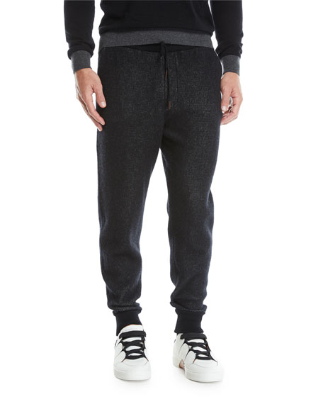 Ermenegildo Zegna Men's Knit Drawstring Jogger Pants
