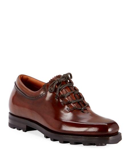 Berluti Men's Venezia Mogano Lace-Up Shoes