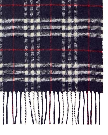 Burberry Men's Vintage Check Cashmere Scarf
