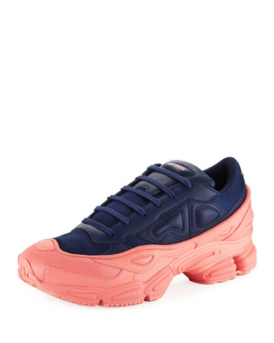 Men's Ozweego Dipped Color Trainer Sneakers  Blue/Pink