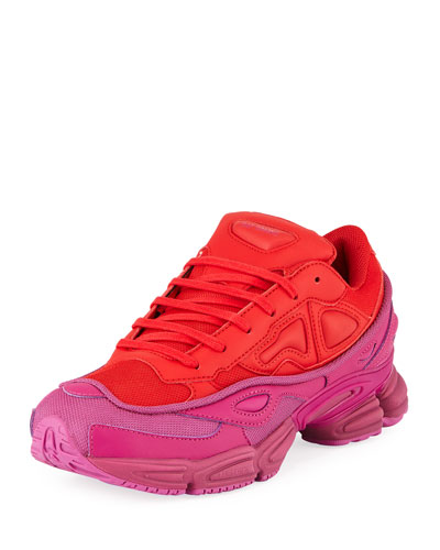 Men's Ozweego Dipped Color Trainer Sneakers  Red/Purple