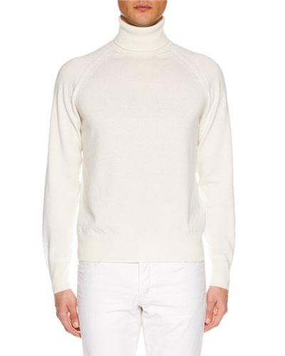 Men's Raglan-Sleeve Cashmere Turtleneck Sweater
