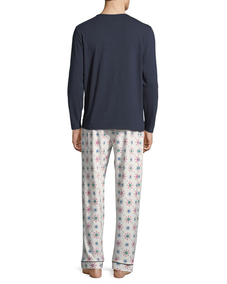 Bedhead Men's Family Holiday Cover Art Pajama Set