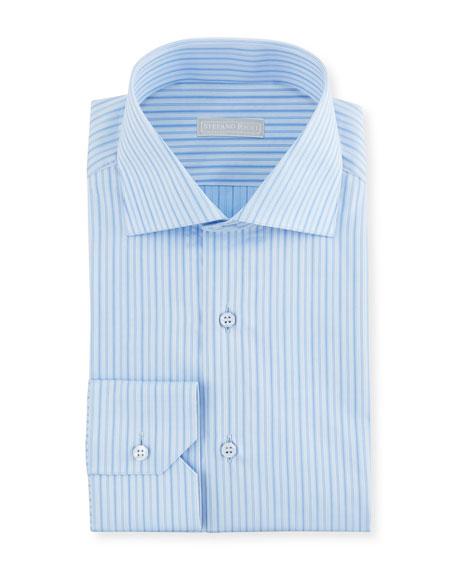 Stefano Ricci Men's Medium Stripe Dress Shirt