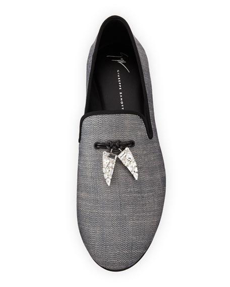 Giuseppe Zanotti Men's Kevin Graphic Shark Tooth Tassel Loafer