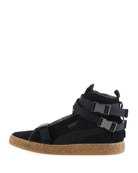 Men's Classic Suede High-Top Weekend Sneakers, Black