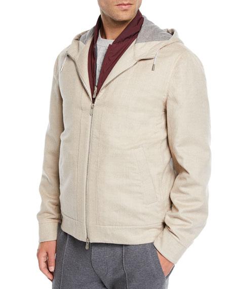Brunello Cucinelli Men's Hooded Cashmere Jacket