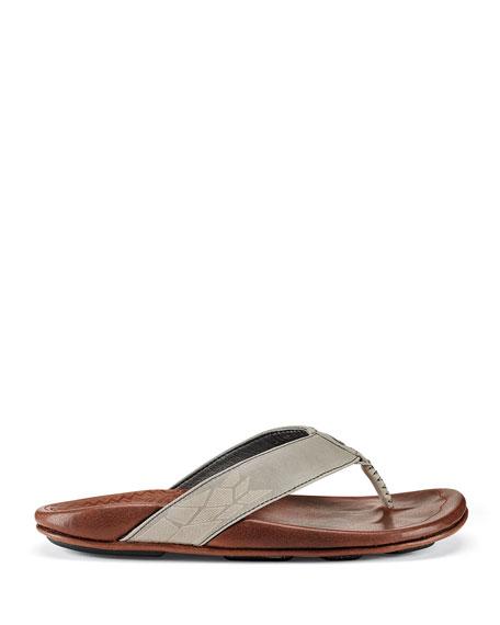 Olukai Men's Kulia Leather Thong Sandals