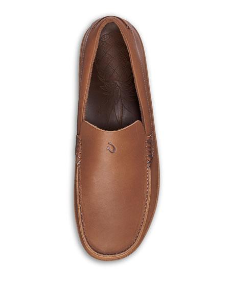 Olukai Men's Kulana Leather Slip-On Loafers