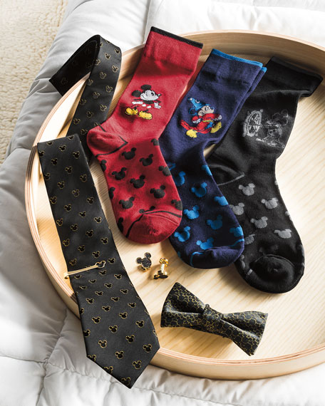 Cufflinks Inc. 90th Anniversary Mickey Mouse Disney Silhouette Tie Bar