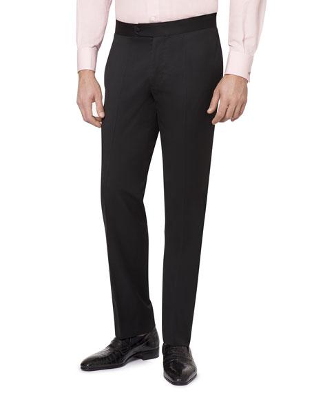Stefano Ricci Men's Flat-Front Wool Formal Pants