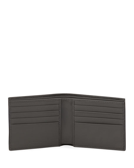 Bottega Veneta Men's Basic Woven Leather Wallet