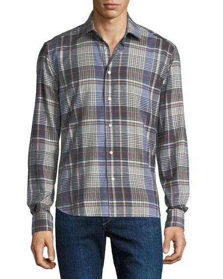 Culturata Men's Cozy Plaid Sport Shirt