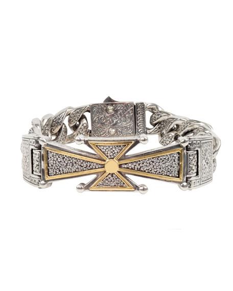 Konstantino Men's Stavros 18k Gold Cross Bracelet