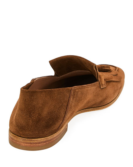 Salvatore Ferragamo Men's Leather Loafers with Tassels