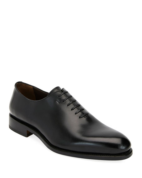 Salvatore Ferragamo Men's Amsterdam Calfskin Lace-Up Shoes
