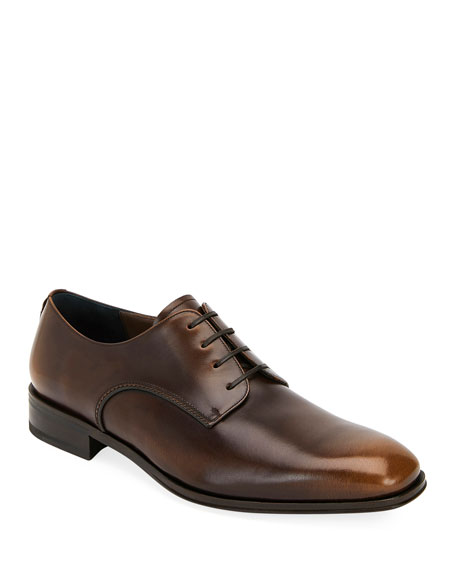 Image 1 of 3: Salvatore Ferragamo Men's Daniel Lace-Up Shoes