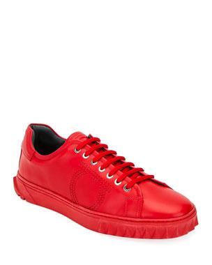 d7cf541b1 Salvatore Ferragamo Men's Cube 13 Low-Top Sneakers
